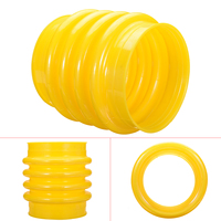 1Pcs Yellow Polyurethane Jumping Jack Bellows Boot 17.5cm For Wacker Rammer Compactor Tamper For Hand Power Tools Accessories