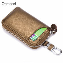Osmond Men Women Genuine Leather Car Key Holders Housekeeper For Men Retro Multifunctional Home Keychain Case Female Key Wallet(China)