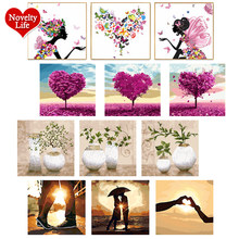 3 Pcs/Set DIY Oil Painting By Numbers Flowers Vase Coloring Picture Drawing Canvas Hand Painted Wall Landscape Gift With Frame(China)