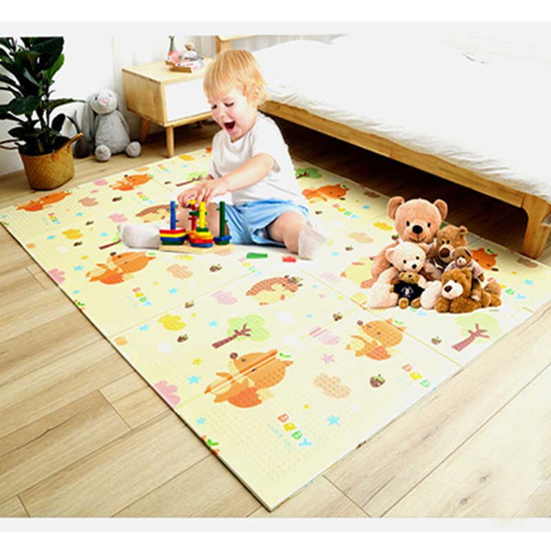 XPE Folding Bayi Bermain Mat 1 Cm Tebal Merangkak Mainan untuk Karpet Mendaki Gyme Permainan Peta Pad Living kamar Rumah Anak-anak Karpet