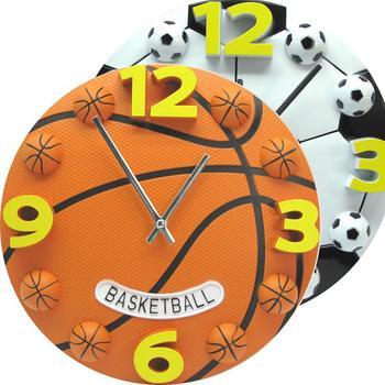 Creatieve Sport Stijl Basketbal Voetbal Analoge Wandklok Home Decor Souvenir Kids Kinderen Geschenken Arabisch Moderne Decoratie