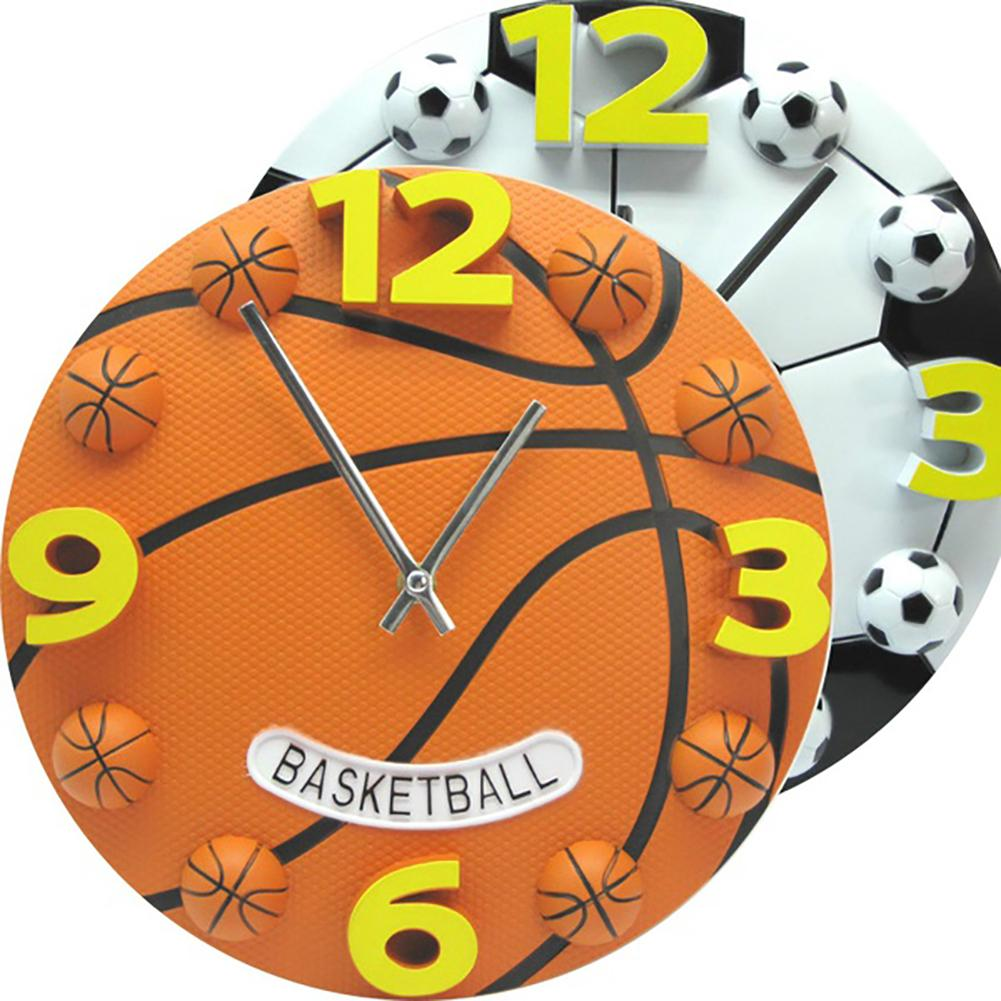Creative Sport Style Basketball Football Analog Wall Clock Home Decor Souvenir Kids Children Gifts Arabic Modern Decoration