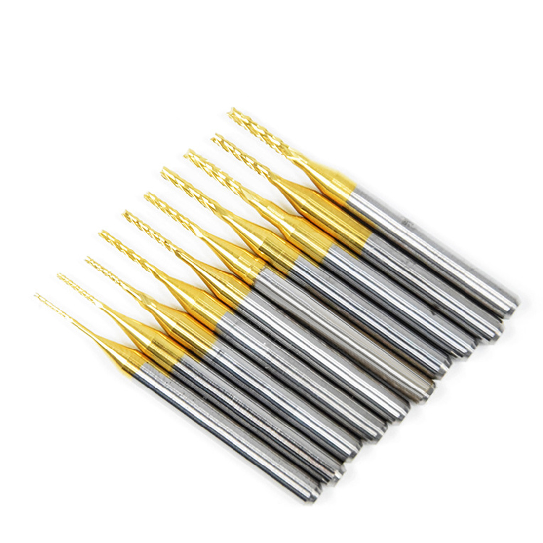 New Titanium Coated Milling Cutter Engraving Edge Cutter CNC Router Bits End Mill For PCB Machine 0.80mm/1.0mm/1.2mm/1.5mm/1.6mm