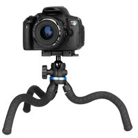 Ulanzi TT20S Octopus Flexible Mini Desktop Tripod with Tripod Head Ballhead Phone Clip Light Weight Carrying Tripod for DSLR