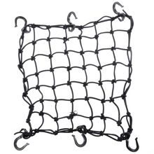 Mayitr 1 pc Nero In Lattice e ABS Moto 6 Regolabile In Plastica ABS Ganci Casco Cargo Deposito Mesh Net 2″ x 2″