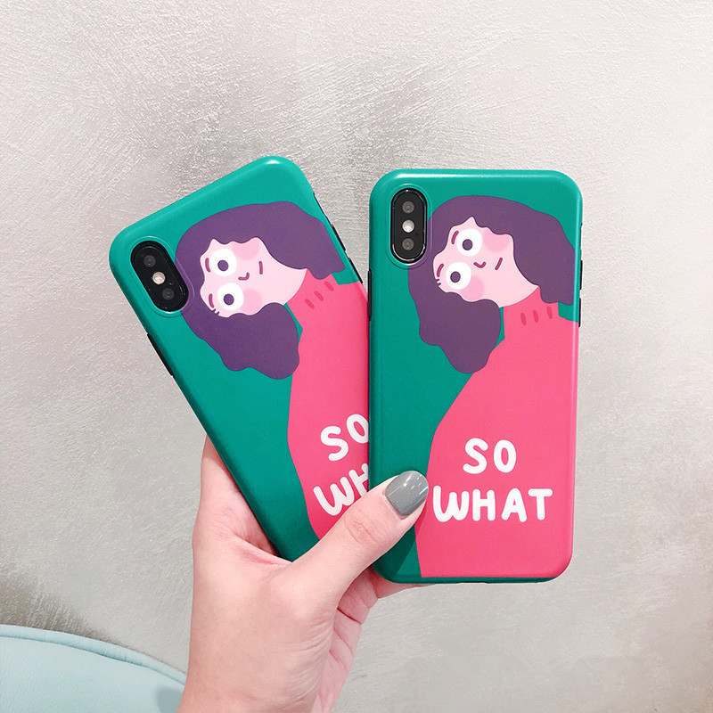 XINDIMAN 2019 phone case for iphone 7 cover fashion Figure cartoon shell for iphone6 6s 6plus 8 8plus case soft TPU for iphoneX in Fitted Cases from Cellphones Telecommunications