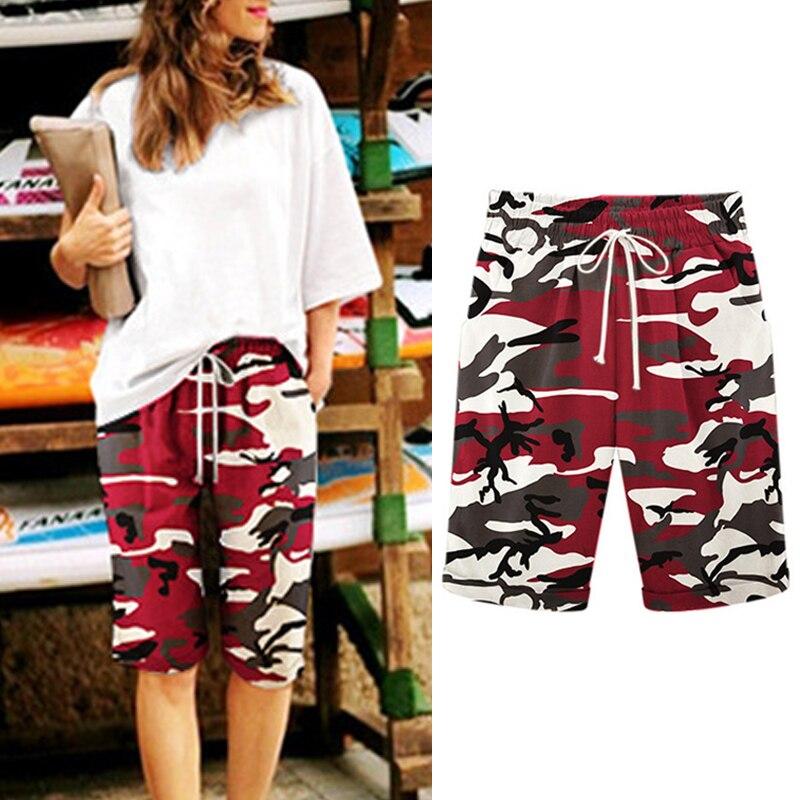 2019 Summer Women Beach Camouflage   Shorts   Femme High Waist Casual   Short   Pants