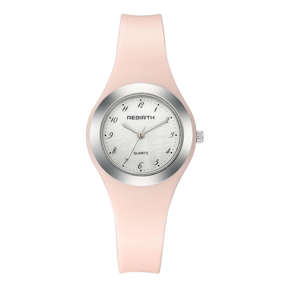 REBIRTH Fashion Quartz Women Wrist Watches With  Bracelet Ladies Watch Luxury Stainless Steel Wristwatch Female Gift Clock Re091