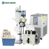YHChem Essential 3L Laboratory Glassware Oil Distillation Equipment Rotary Distiller with Chiller and Vacuum Pump