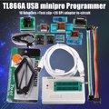 Новейший Универсальный USB программатор TL866A/TL866II Plus + 10 элементов IC Адаптеры высокая скорость TL866CS руководство на английском языке