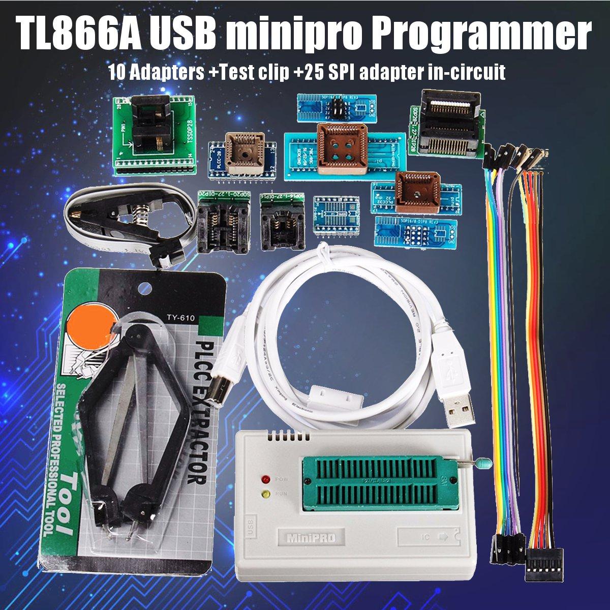 Mais novo TL866A/TL866II Mais Itens IC Adaptadores de Alta Velocidade USB Programador Universal + 10 TL866CS Manual Em Inglês