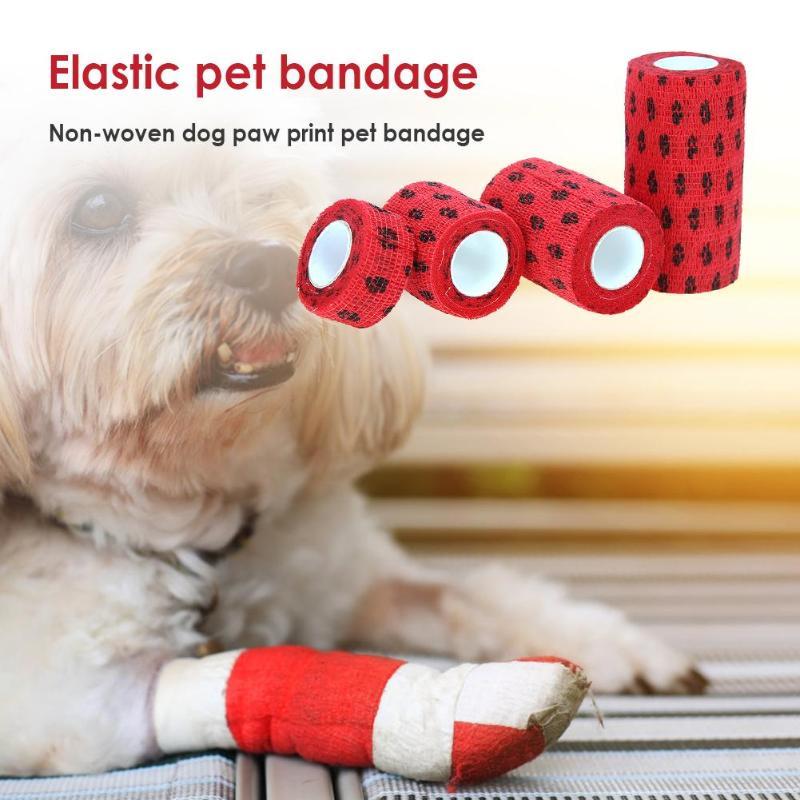Outdoor Breathable Tearing font b Pet b font Elastic Bandage Dog Cat Leg Cover Protector Strap
