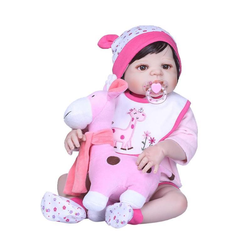 NPK Reborn poupée 55 CM Silicone souple Reborn bébé poupées jouets mignons grandes poupées pour les filles accompagnent des poupées pour bébé filles