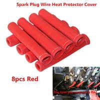 8 pièces noir rouge bleu 1200 universel bougie fil bottes bouclier thermique protecteur manchon pour GM Chevy Ford