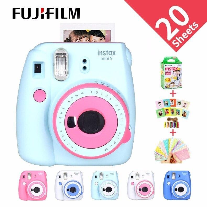 NOUVEAU Fujifilm Instax Mini 9 Livraison Cadeau Photo Caméra FilmPhoto Camerain 6 Couleurs blocage Instantanée Photocamera