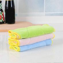 Мягкий очищающий полотенце масло для удаления микрофибры двухстороннее поглощение воды без ворса тряпичный антипригарный инструмент для очистки кухонное полотенце для посуды