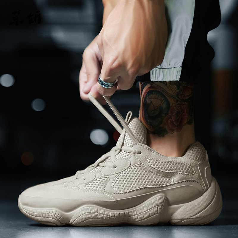 Vintage papa baskets 2019 Kanye West mode maille léger respirant hommes chaussures décontractées hommes baskets Zapatos Hombre chaussures rétro