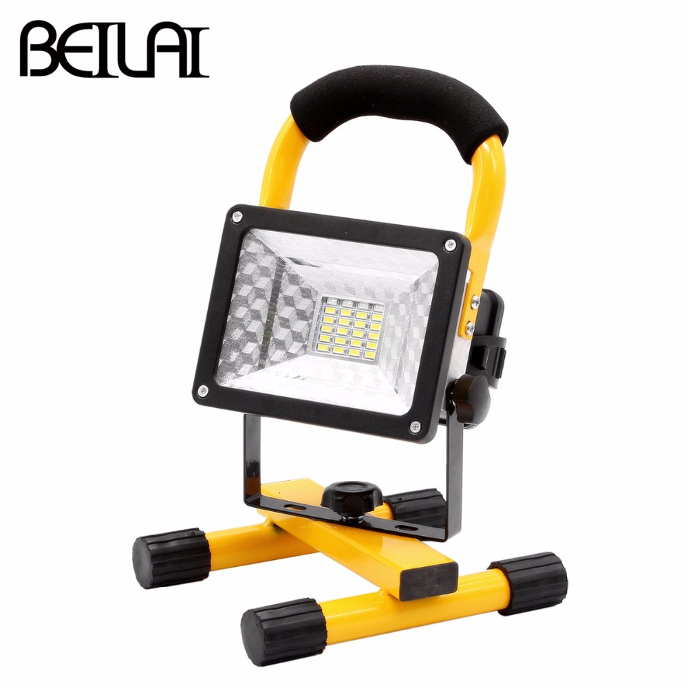 3 Mode 24 LED Floodlight IP65 Waterproof Portable LED Flood Light Rechargeable Spotlight Power By 18650 Battery Outdoor Lighting