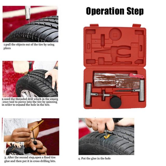 Tire Repair Near Me Open Sunday >> 57pcs Tire Repair Kit Flat Tire Repair For Car Truck Motorcycle Home