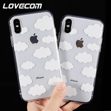 LOVECOM Cute Clouds Graphic Phone Cases for iPhone