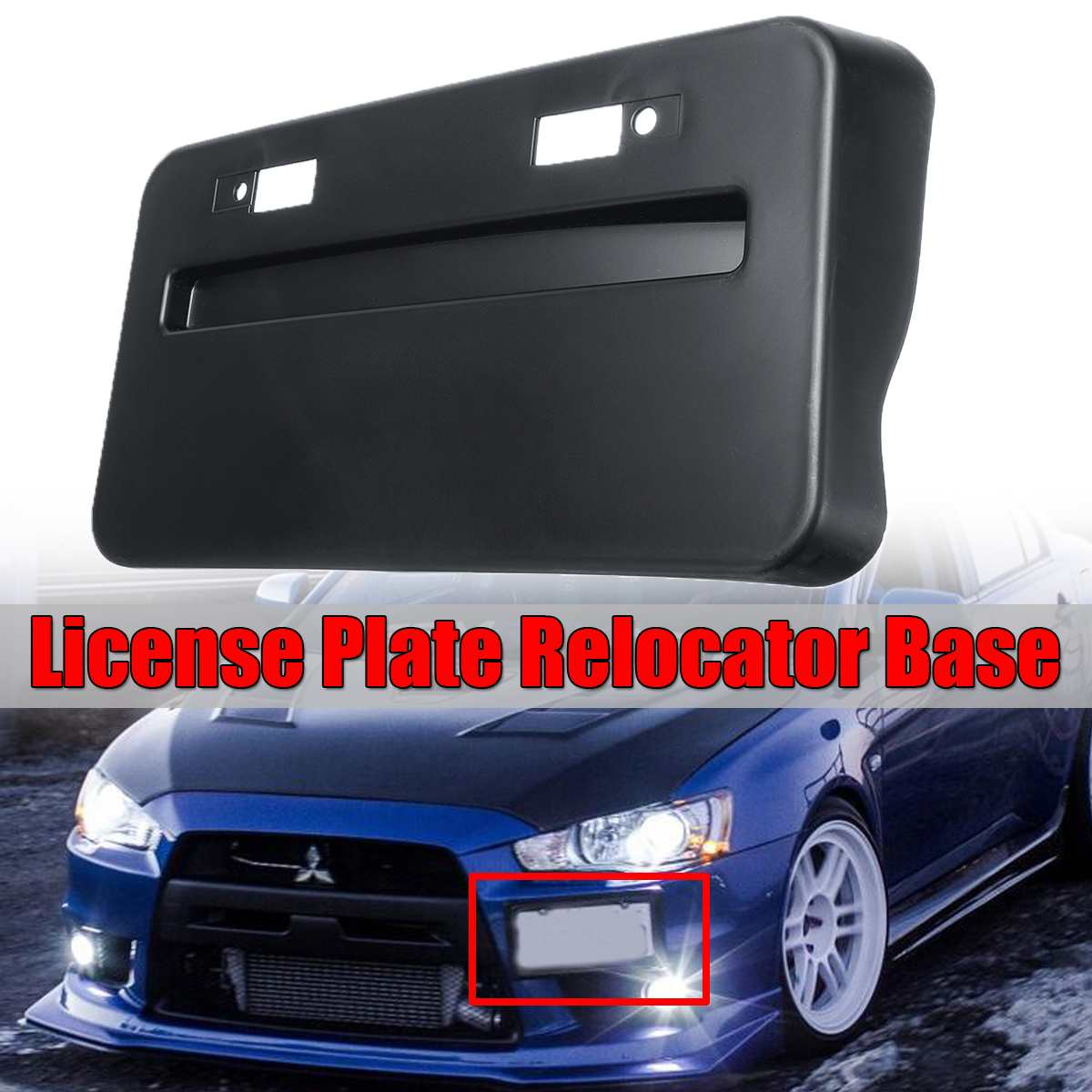 1PC BLACK//YELLOW LOGO LICENSE PLATE COVER HOLDER DECORATIVE PLASTIC FRAME TAG P6