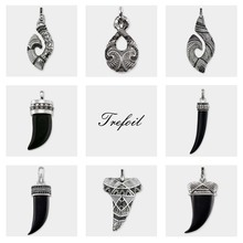Pendant Maori Hook Skull Tooth Eternity,New Ethnic Fashion Jewelry Trendy 925 Sterling Silver Gift For Men Women Fit Necklace