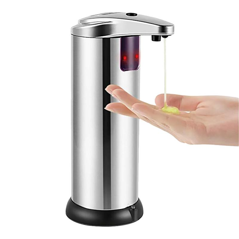 Induction Soap Dispenser Stainless Steel Infrared Automatic Sensor Touchless Liquid Dish Hand Soap Bottle For Kitchen Bathroom image