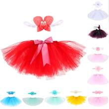 2019 Baby Tutu Skirt Photography Props Sets Infant Kids Tutu Skirt with Headband New Born Photos Props Toddler accessories(China)