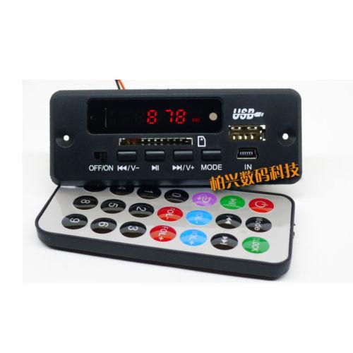 Dc 12V Bluetooth Receiver Module MP3/WMA/WAV Decoder Board Digital LED Player FM Radio For Diy Amplifier Speaker