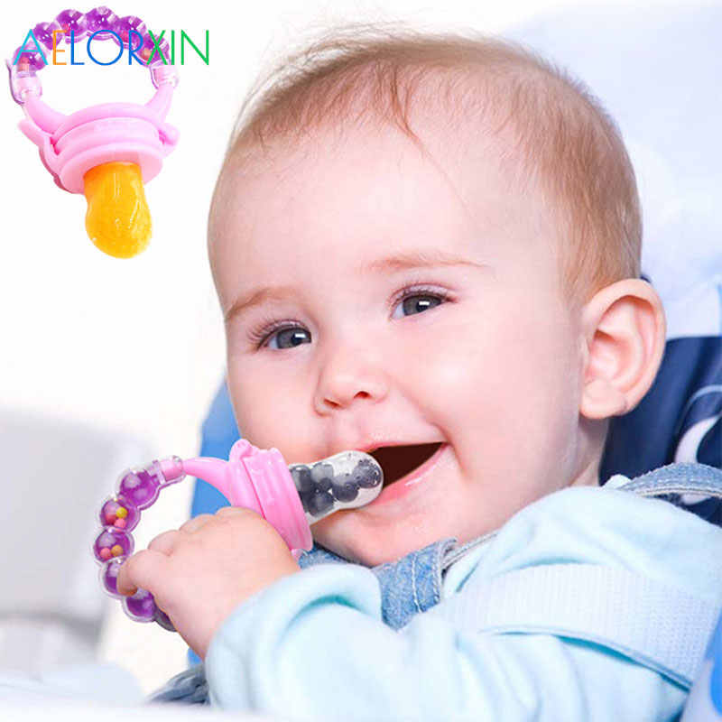 11.11 Fresh Fruit Food Kids Nipple Feeding Safe Milk Feeder Baby Pacifier Bottles Nipple Teat Fresh Fruit Nibbler feeding kid