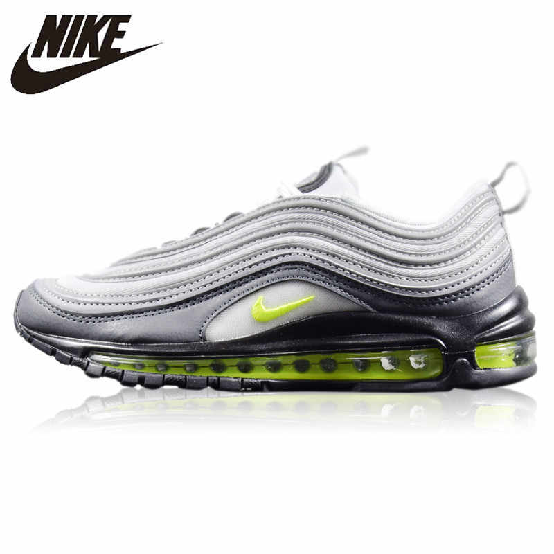 innovative design a8689 d5f0d Nike Air Max 97 Neon New Arrival Original Men's Running Shoes  Wear-resistant Cushion Non-Slip Breathable Sneakers #921733-003