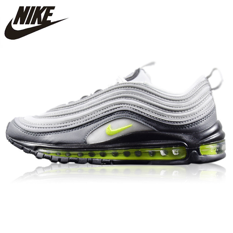 US $77.42 51% OFF|Nike Air Max 97 Neon New Arrival Original Men's Running Shoes Wear resistant Cushion Non Slip Breathable Sneakers #921733 003 in