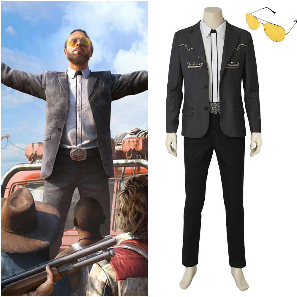 Far Cry 5 Inside Eden S Gate Father Joseph Seed Cosplay Costume Blazer Suit Halloween Costumes For Men Adult Aliexpress