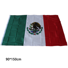 90*150cm Feet Polyester Mexico Flag Mexican Country Indoor Outdoor Banner Pennant Home decoration polyester banner Mexico flag