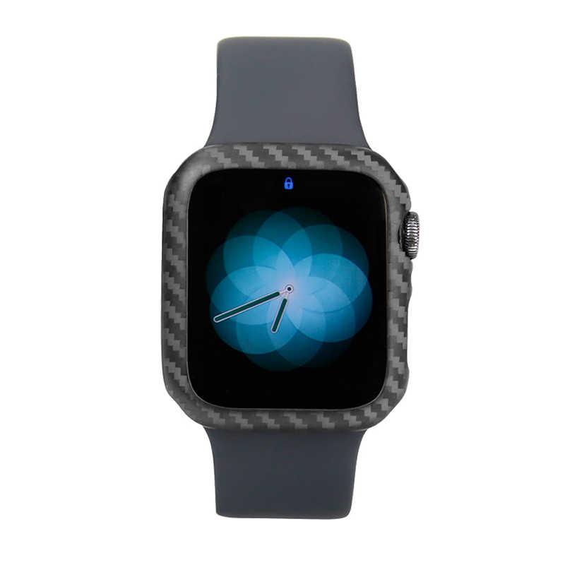 Защитный чехол для Apple Watch Series 4 40 мм 44 мм настоящий углепластиковый футляр для часов Крышка для Apple iWatch Series 4 корпус рамы