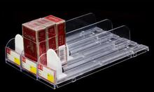 Supermarket cigarette automatic thruster convenience store display stand pusher Tobacco drink rack 10pcs/lot