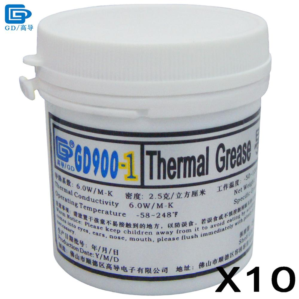 GD900-1 Thermal Conductive Grease Paste Silicone Heat Sink Compound 10 Pieces Net Weight 150 Grams Containing Silver Gray CN150 gd900 thermal conductive grease paste silicone plaster heat sink compound 5 pieces high performance gray net weight 3 grams sy3