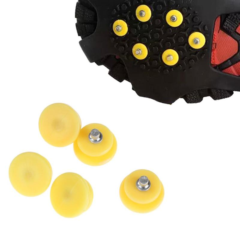 5pcs/set Ice Snow Climbing Anti-slip Shoe Covers Cold Claw Nail Gripper Nails Spike Cleats Crampons Accessories