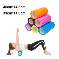 Eva Yoga Column Fitness Equipment Yoga Blocks Home Exercise Yoga Pilates Roller Train Gym Physio Roller Sport Tool 45/33*14.8cm