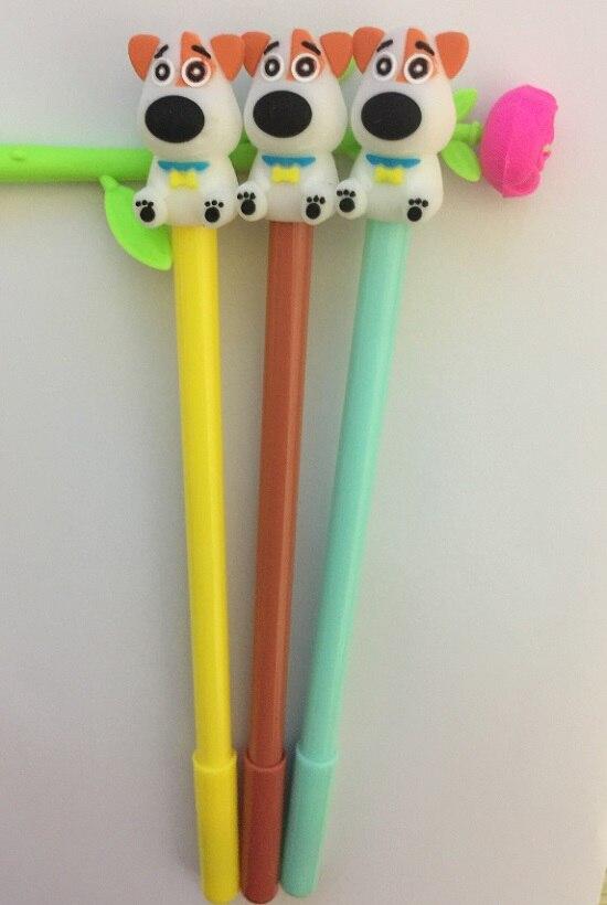 100 ピース/ロット、卸売、送料無料、かわいい犬スタイルゲルペン韓国の文房具かわいい漫画クリエイティブスクールサプライ、 3 カラー  グループ上の オフィス用品 & 学用品 からの ボールペン の中 3