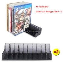 2 шт./набор, игровая станция для PS4, 4 игровые аксессуары, CD диски, держатель для хранения, держатель для Playstation 4, PS4 Slim Pro, игровой диск, подставки