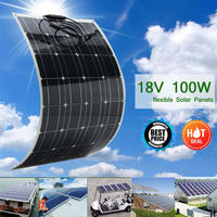 Best Price 1/2 pcs 100w Solar Panel semi flexible 200W solar system Photovoltaic solar panel 18v battery/yacht/RV/car/boat
