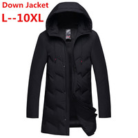 Plus size 10XL 8XL 6XL 5XL 2018 new down jacket for men brand clothing long winter thick warm duck down jacket male top quality