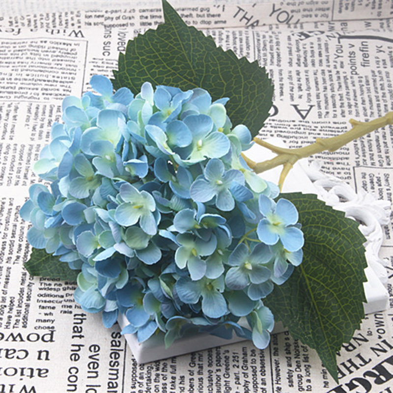 Simulation Fake Hydrangea Heads Silk Flower Bud Bouquet Party