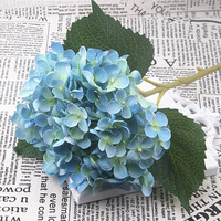 Simulation Fake Hydrangea Heads Silk Flower Bud Bouquet Party Wedding Home Decor White/Blue/Pink/Red/Yellow Artificial Hydrangea fake rose flowers
