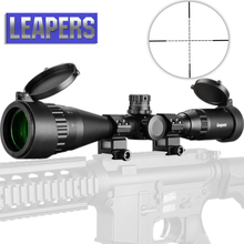 LEAPERS 3-9X40 Riflescope Tactical Optical Rifle Scope Red Green And Blue Dot Sight Illuminated Retical Sight For Hunting Scope