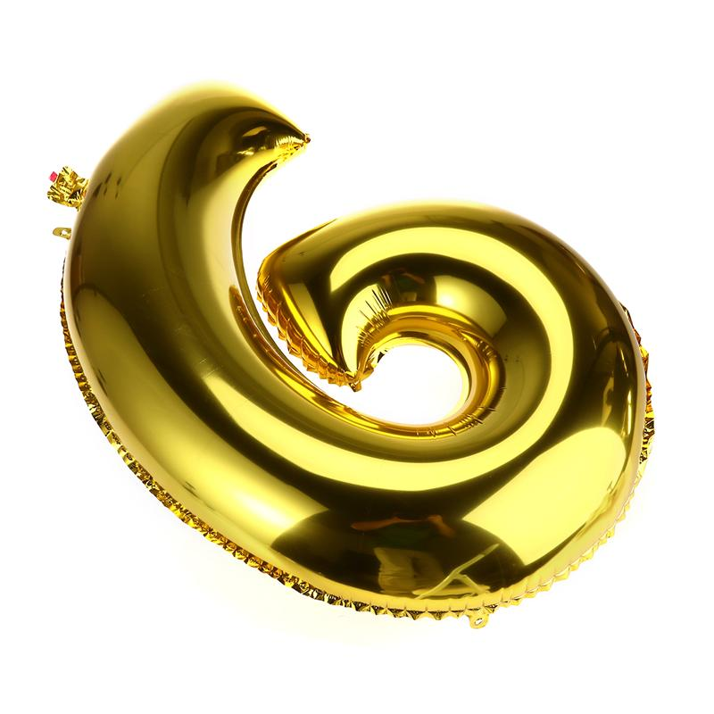 32 inch Thickened Helium Foil Balloons Birthday Number Balloons 9 for Wedding Anniversary Decoration (Gold) - 5