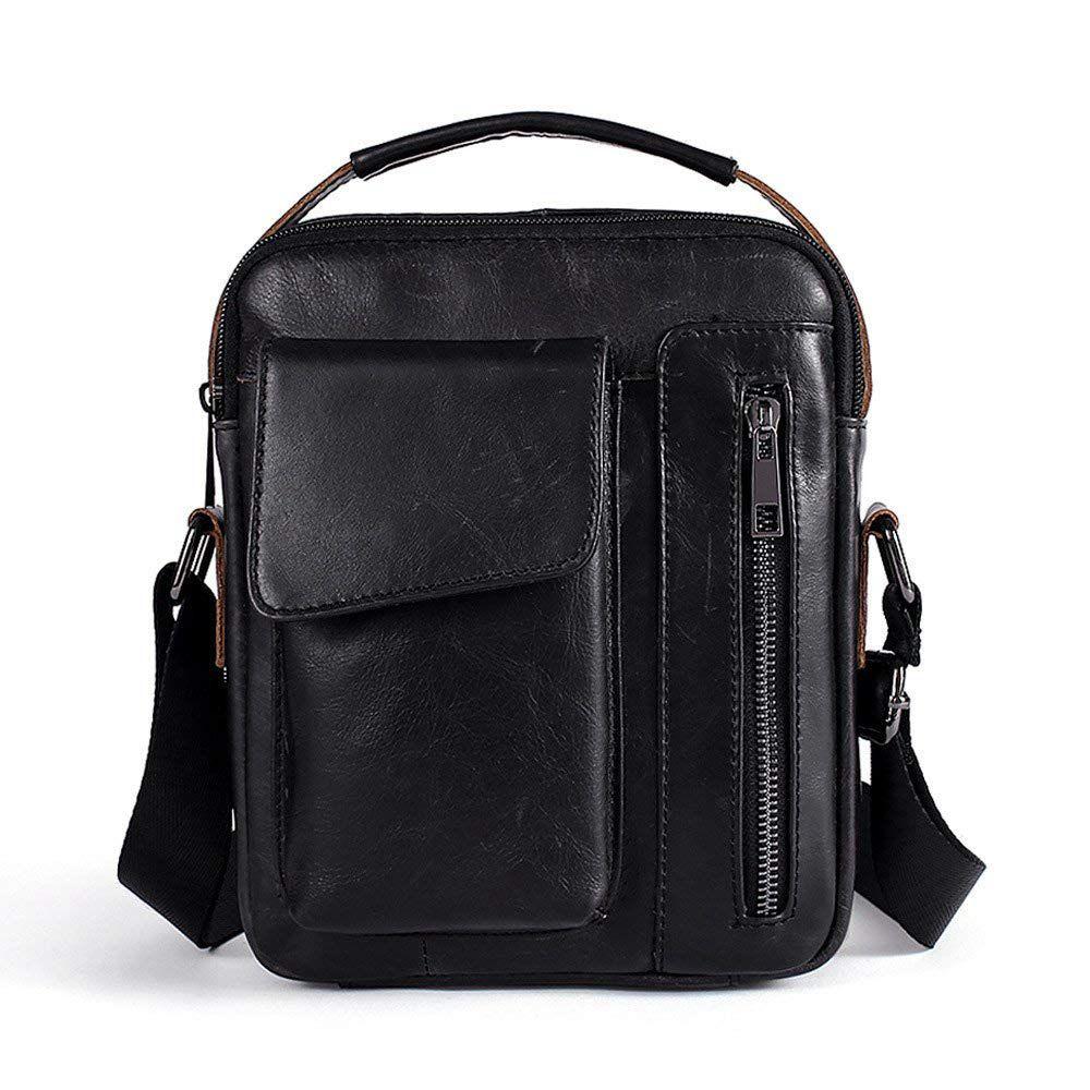 Shoulder Bag Genuine Leather For Men Briefcase Small Shoulder Bag For Casual, Business