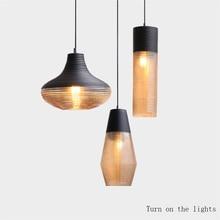 Modern LED Pendant Lamps Vintage Glass Lights Living Room Bedroom Loft Industrial Home Decor Kitchen Fixtures  Hang Lamp