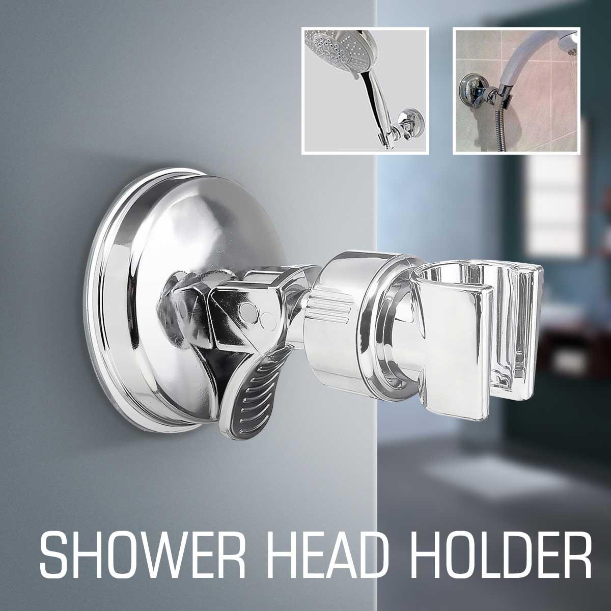 Bathroom Adjustable Shower Head Holder Rack Bracket Suction Cup ...